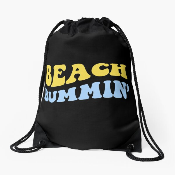 beach bummin' Drawstring Bag