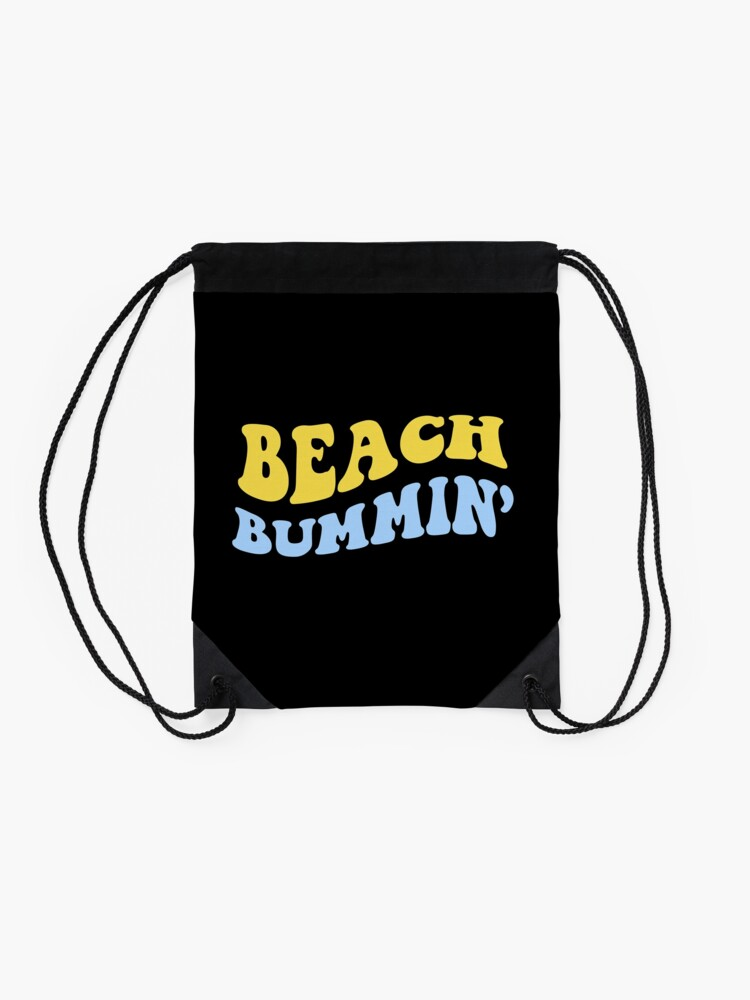 Alternate view of beach bummin' Drawstring Bag