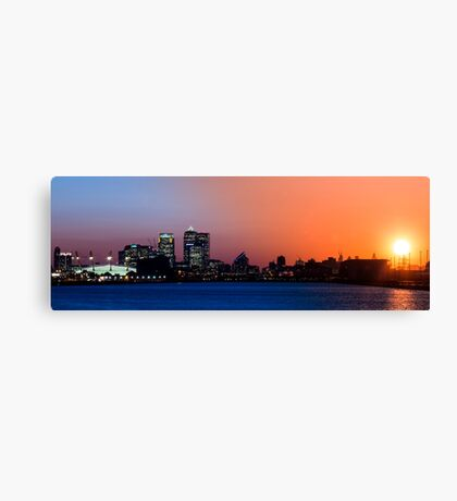Transition of Canary Wharf Sunset Canvas Print