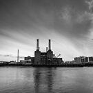 Battersea Power Station in B&W by Mattia  Bicchi Photography