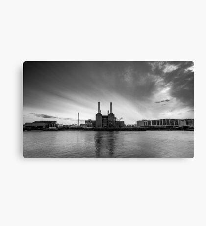 Battersea Power Station in B&W Canvas Print