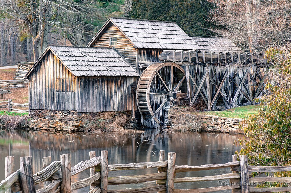 The Mabry Mill, Blue Ridge Parkway - Virginia by Gregory Ballos