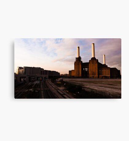 Battersea Power Station Sunset Canvas Print