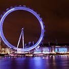 London Eye by Night by Mattia  Bicchi Photography