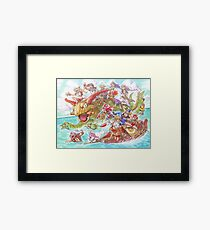 Chrono Cross: Swim Framed Print