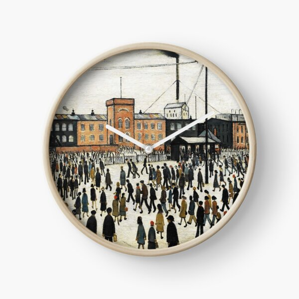 LOWRY, Artist, Matchstick men, Laurence Stephen Lowry, Going to Work. Clock