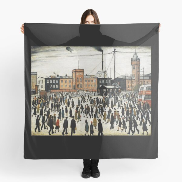 LOWRY, Artist, Matchstick men, Laurence Stephen Lowry, Going to Work. Scarf