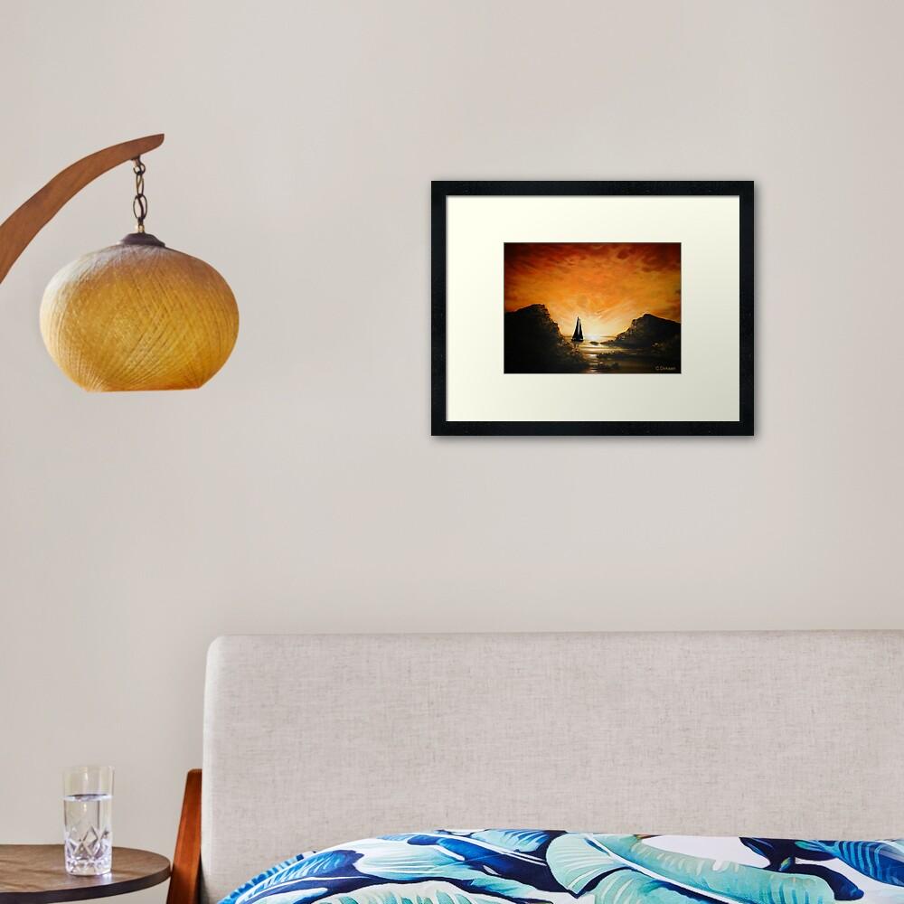 Sunrise Cove Framed Art Print