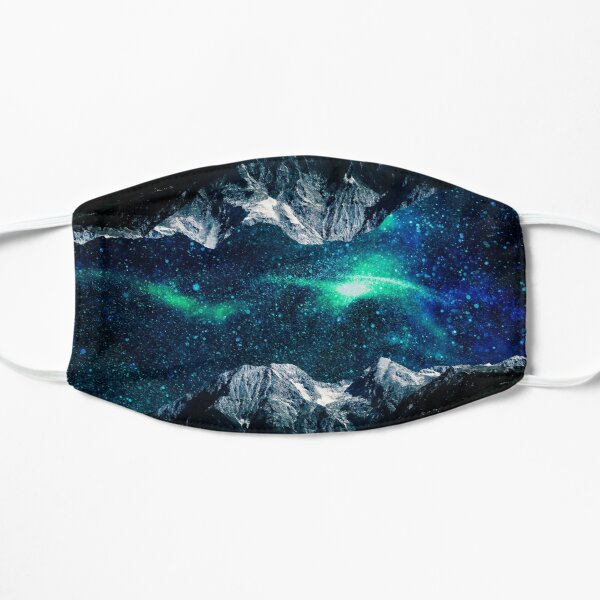 Lost in a world of dreams and mountains Flat Mask
