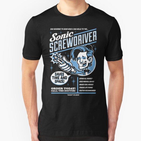 Sonic Screwdriver Ad Slim Fit T-Shirt