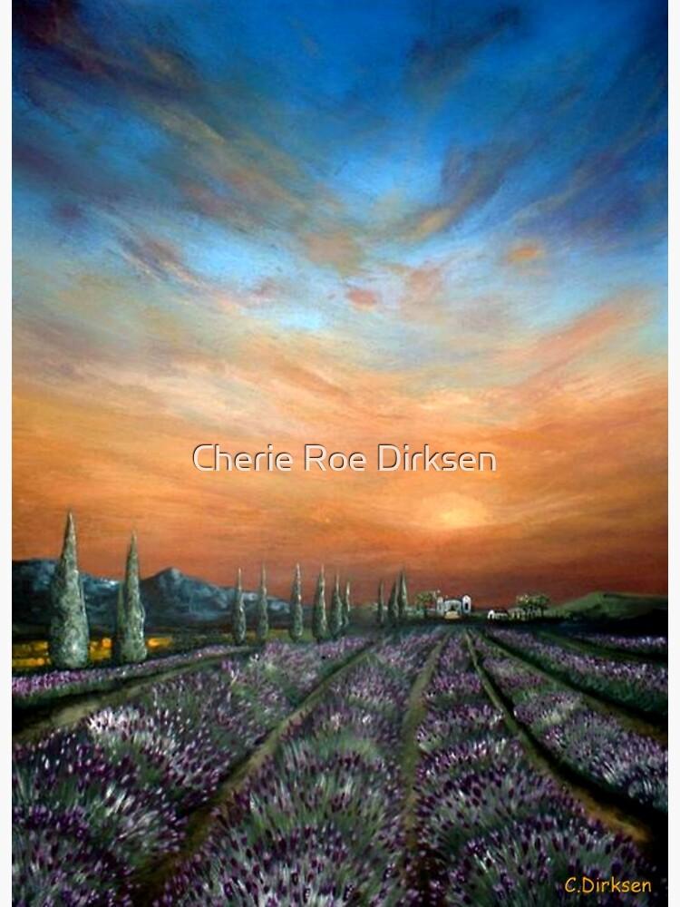 Lavender Field Sunset by cheriedirksen