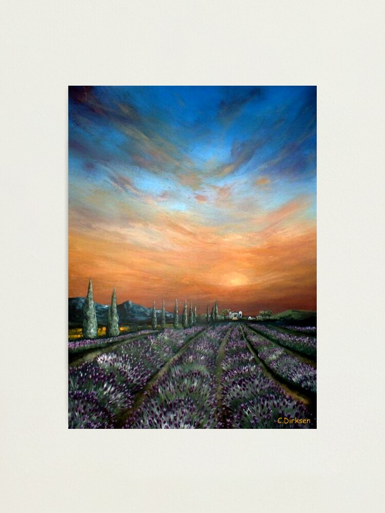 Alternate view of Lavender Field Sunset Photographic Print