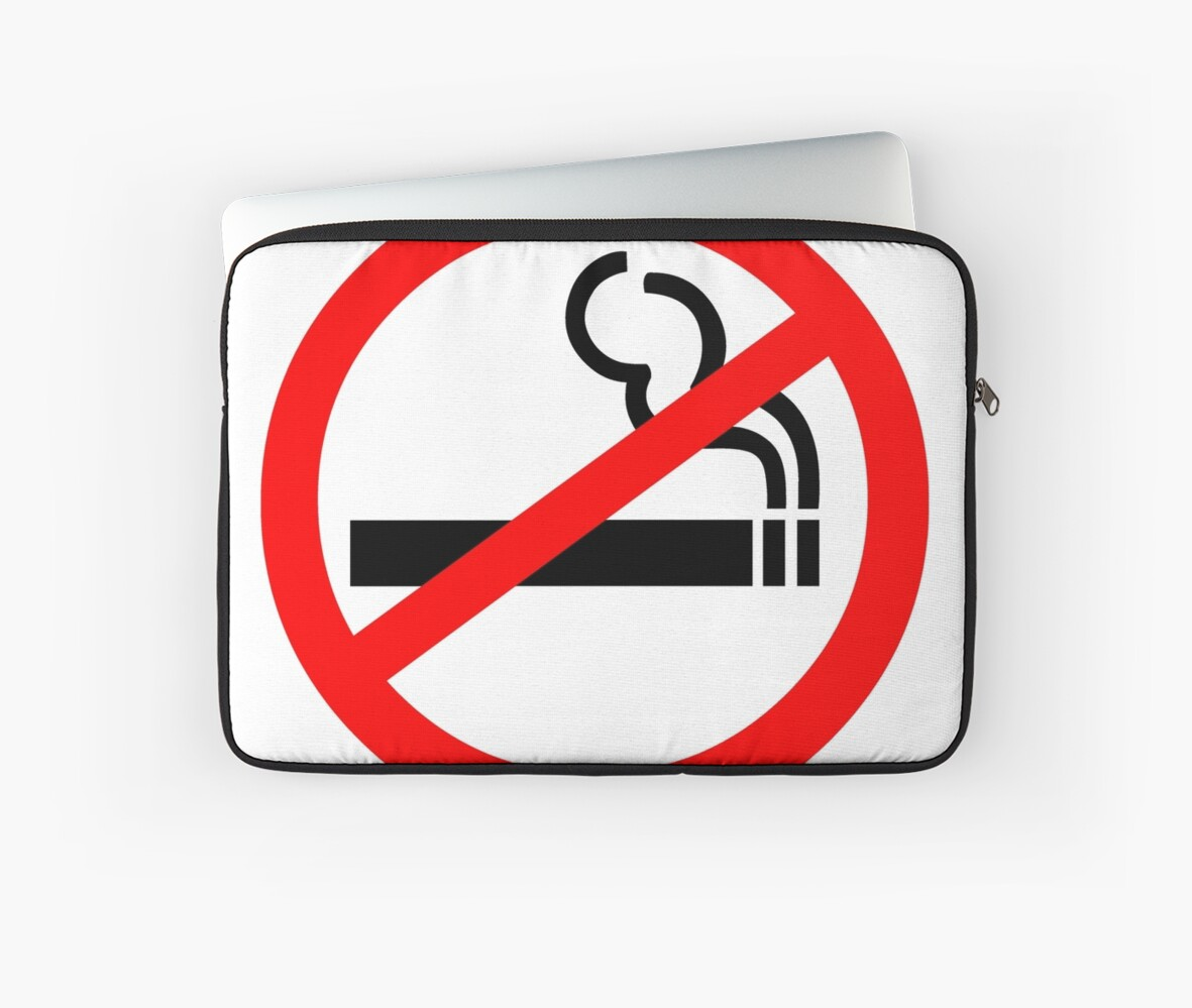 No Smoking Symbol Laptop Sleeves By Sweetsixty Redbubble