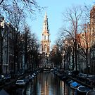 Amsterdam - The Canal Along Groenburgwal by rsangsterkelly