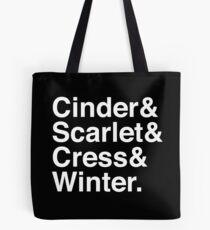 Cinder & Scarlet & Cress & Winter. (invers) Tasche
