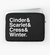 Cinder & Scarlet & Cress & Winter. (invers) Laptoptasche