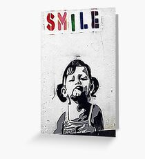 Banksy Poster. Greeting Card