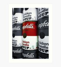"""""""Soup"""" - A Tribute to Andy Warhol (Larger) Art Print"""