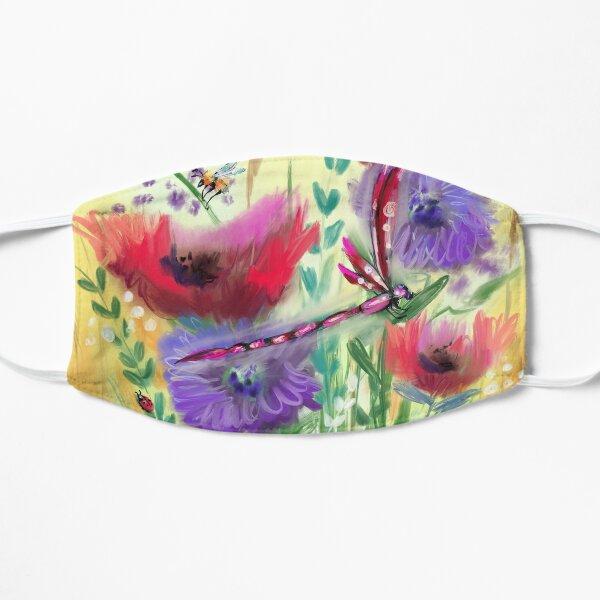 Poppy Meadow Purple Dandelions  Mask