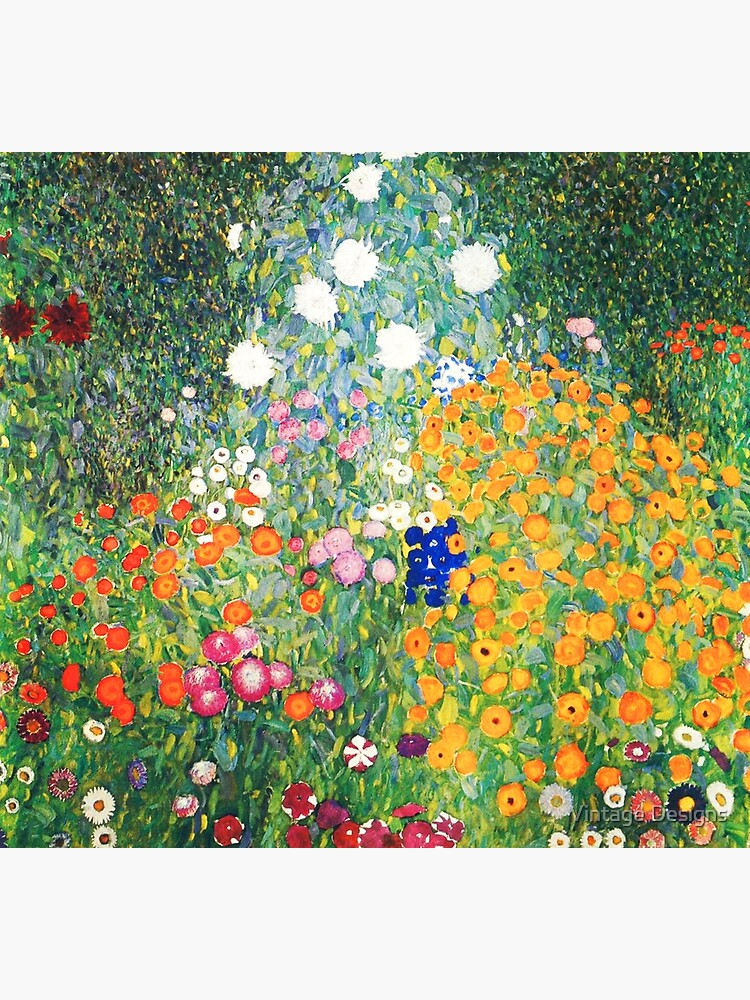 Flower Garden by Gustav Klimt by Geekimpact