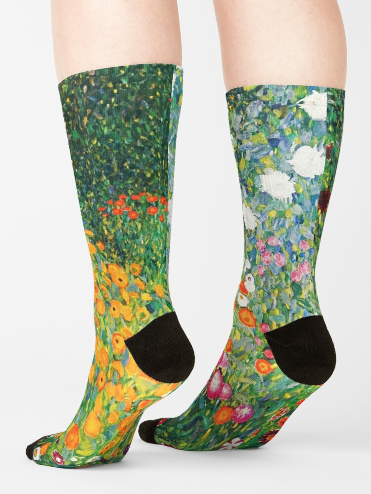Alternate view of Flower Garden by Gustav Klimt Socks