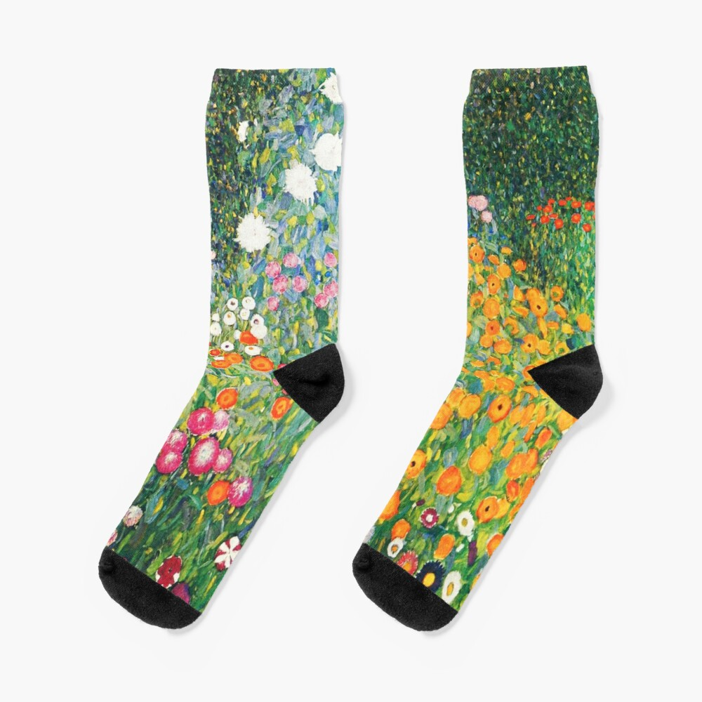 Flower Garden by Gustav Klimt Socks