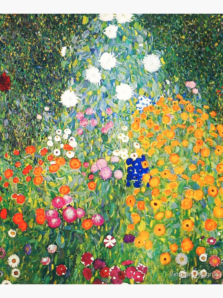 Flower Garden by Gustav Klimt by Geekimpact
