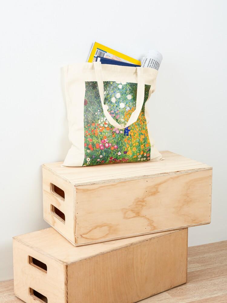 Alternate view of Flower Garden by Gustav Klimt Tote Bag