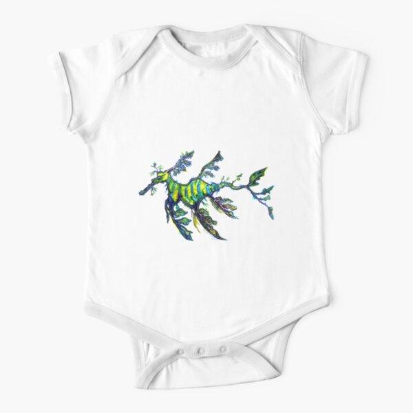 Leafy Seadragon Short Sleeve Baby One-Piece