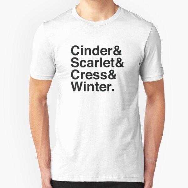 Cinder & Scarlet & Cress & Winter. Slim Fit T-Shirt