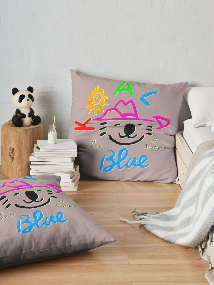 Alternate view of Koala Blue Olivia Newton-John  Floor Pillow
