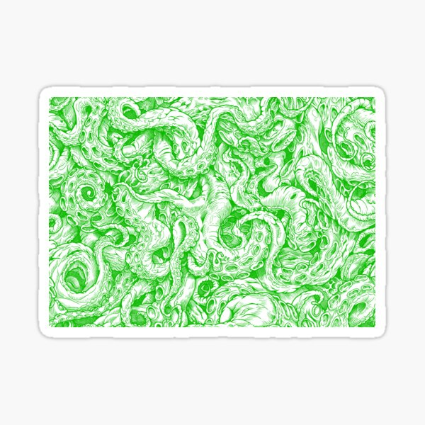 Tentacles of Cthulhu (green) Sticker