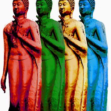 Colored Thai Buddha  by LaCalavera