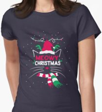 Meowy Christmas Women's Fitted T-Shirt