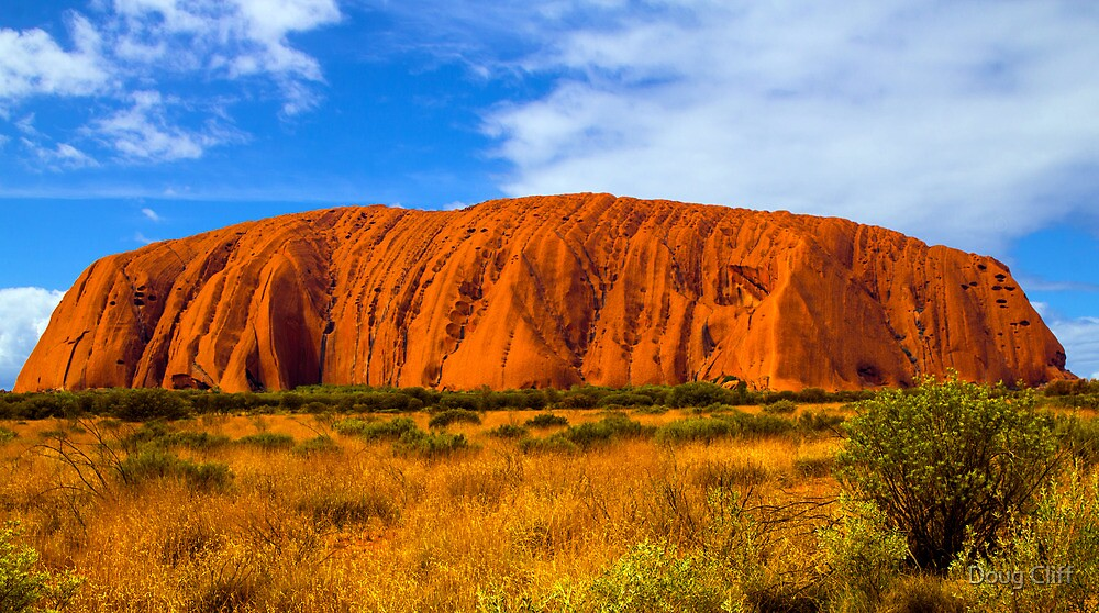 Ayers Rock or Uluru by Doug Cliff
