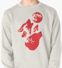 Three Wolves and a Blood Moon Pullover