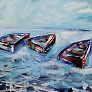 Dinghies Adrift in The Bay by Reynaldo