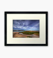 Sand Bar Beach  Framed Print