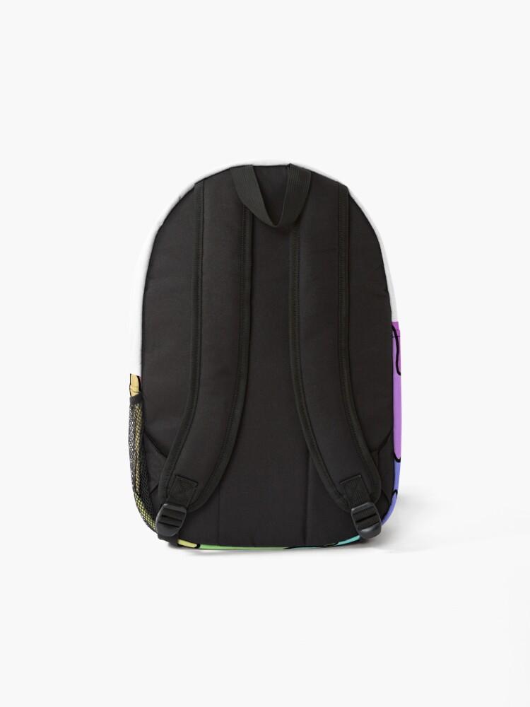 Alternate view of Pastel Kawaii Melting Rainbow Design  Backpack