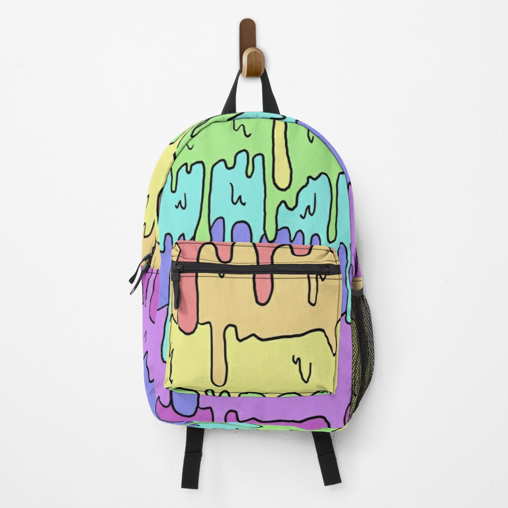 Pastel Kawaii Melting Rainbow Design  Backpack