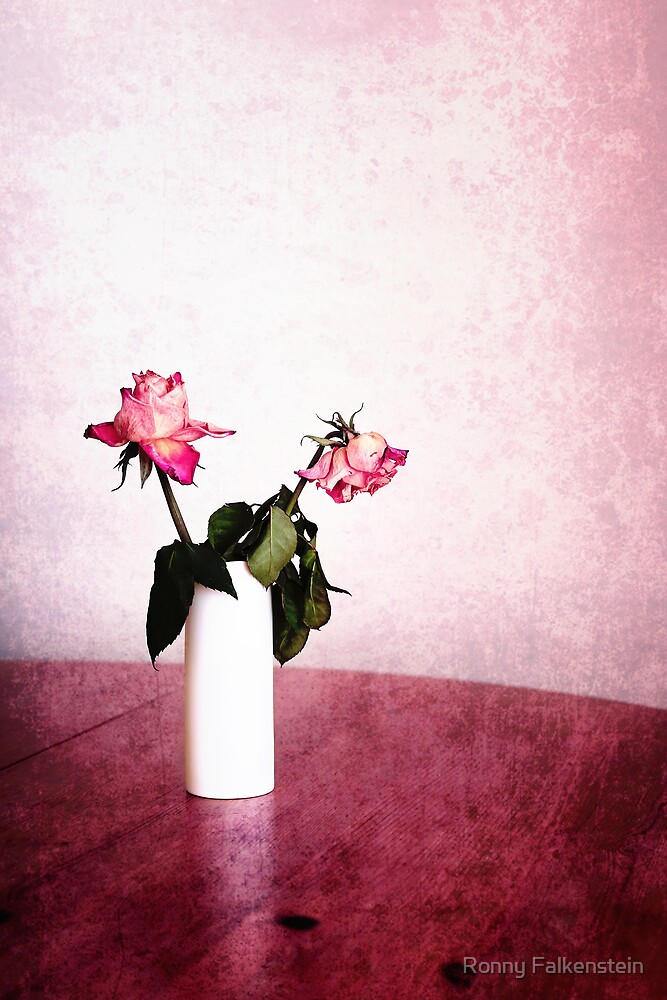 Still life - Roses in bone china by Ronny Falkenstein
