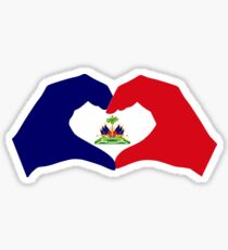 I Heart Haiti Patriot Flag Series Sticker