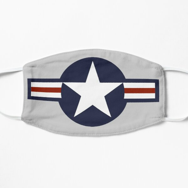 AIR FORCE. AMERICAN, USAF, Roundel, United States Air Force, aircraft, United States Navy, United States Marine Corps, on Grey. Mask