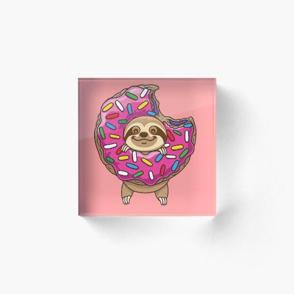 Cute Sloth Acrylic Block
