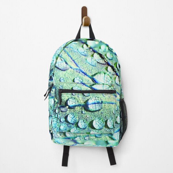 Water Droplets on a Leaf Backpack