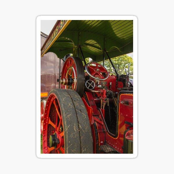 A steam engine driving platform as a blank greeting card Sticker