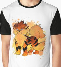 Arcanine - with background Graphic T-Shirt