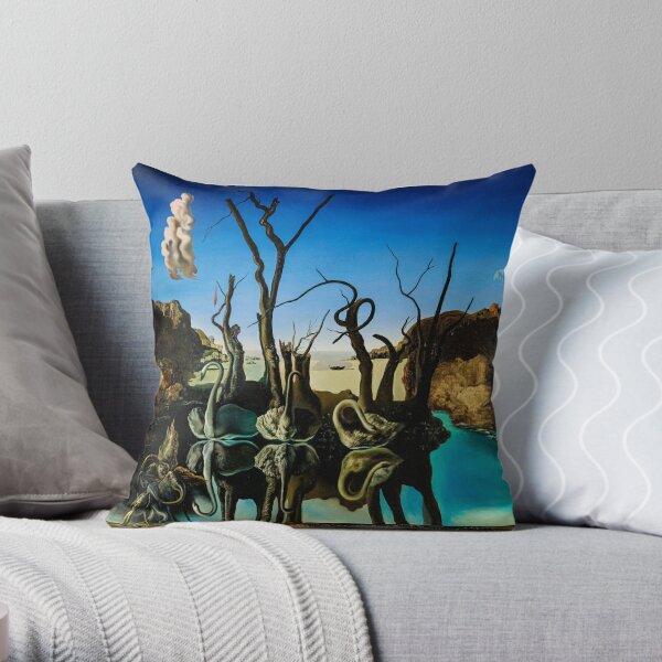 il contient l'une des célèbres doubles images de Dalí. Coussin