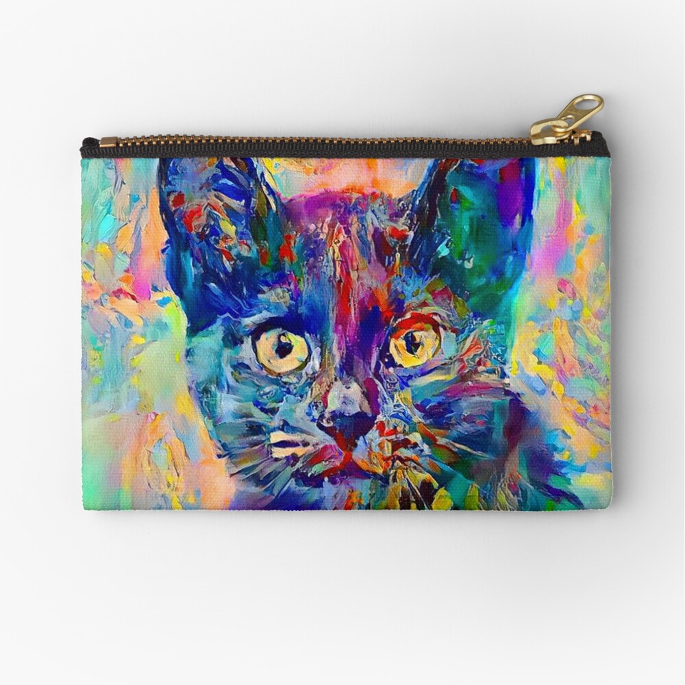 Abstractions of abstract abstraction of cat Zipper Pouch