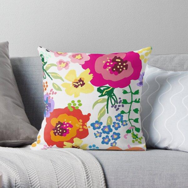 Large Print Springtime Floral Throw Pillow